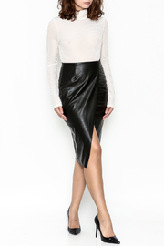 Do & Be Faux Leather Skirt - Side cropped