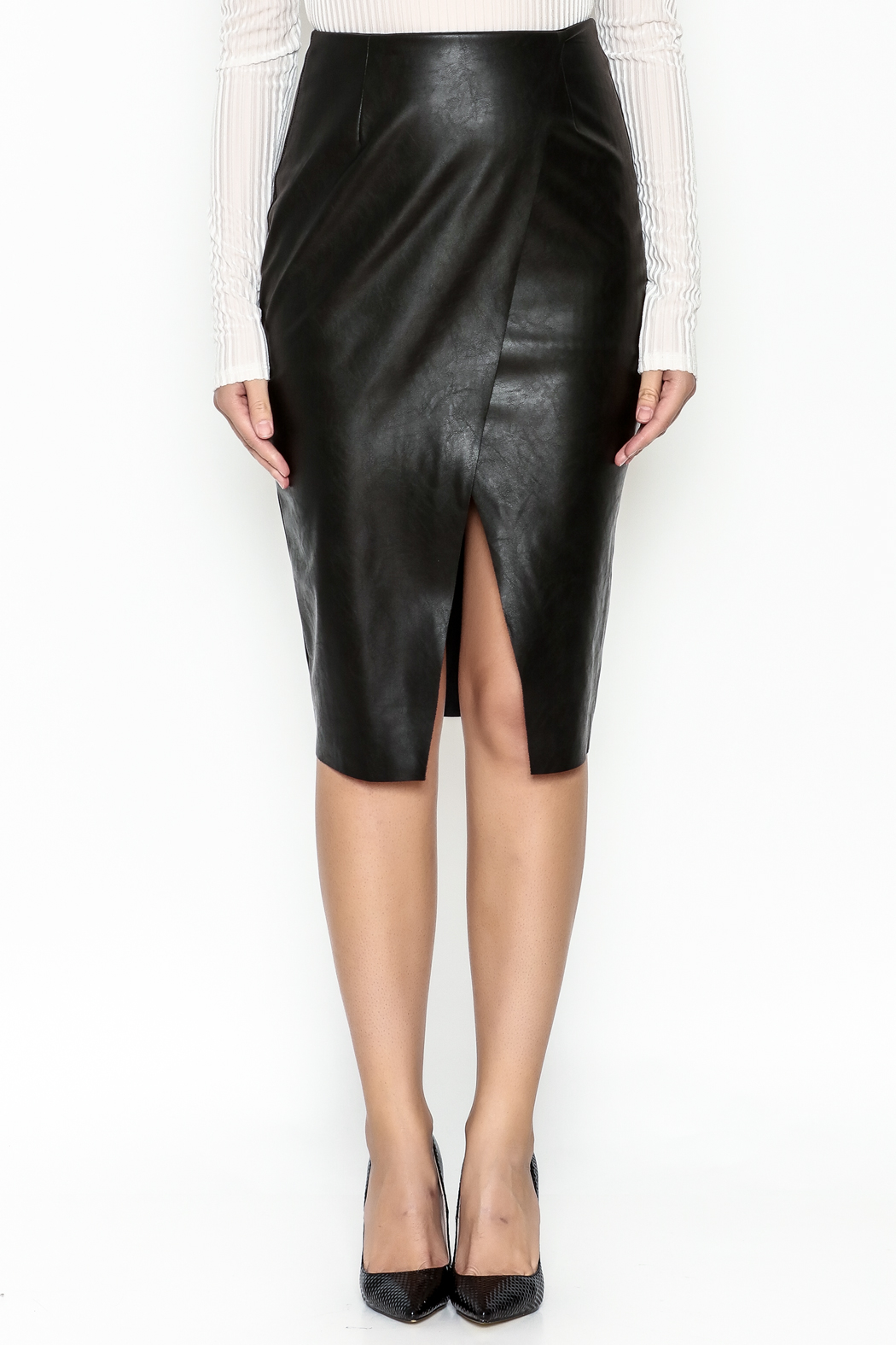 Do & Be Faux Leather Skirt - Front Full Image