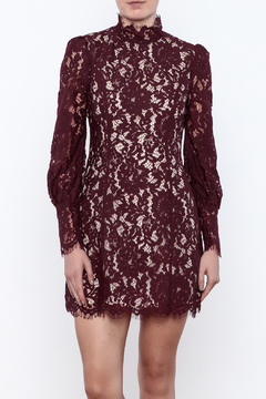 Shoptiques Product: Fluffed Sleeve Lace Dress