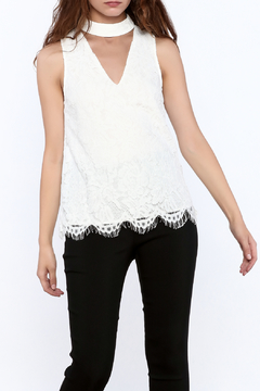 Shoptiques Product: White Lace Sleeveless Top