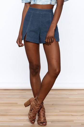 Do & Be High Waist Denim Shorts - Main Image