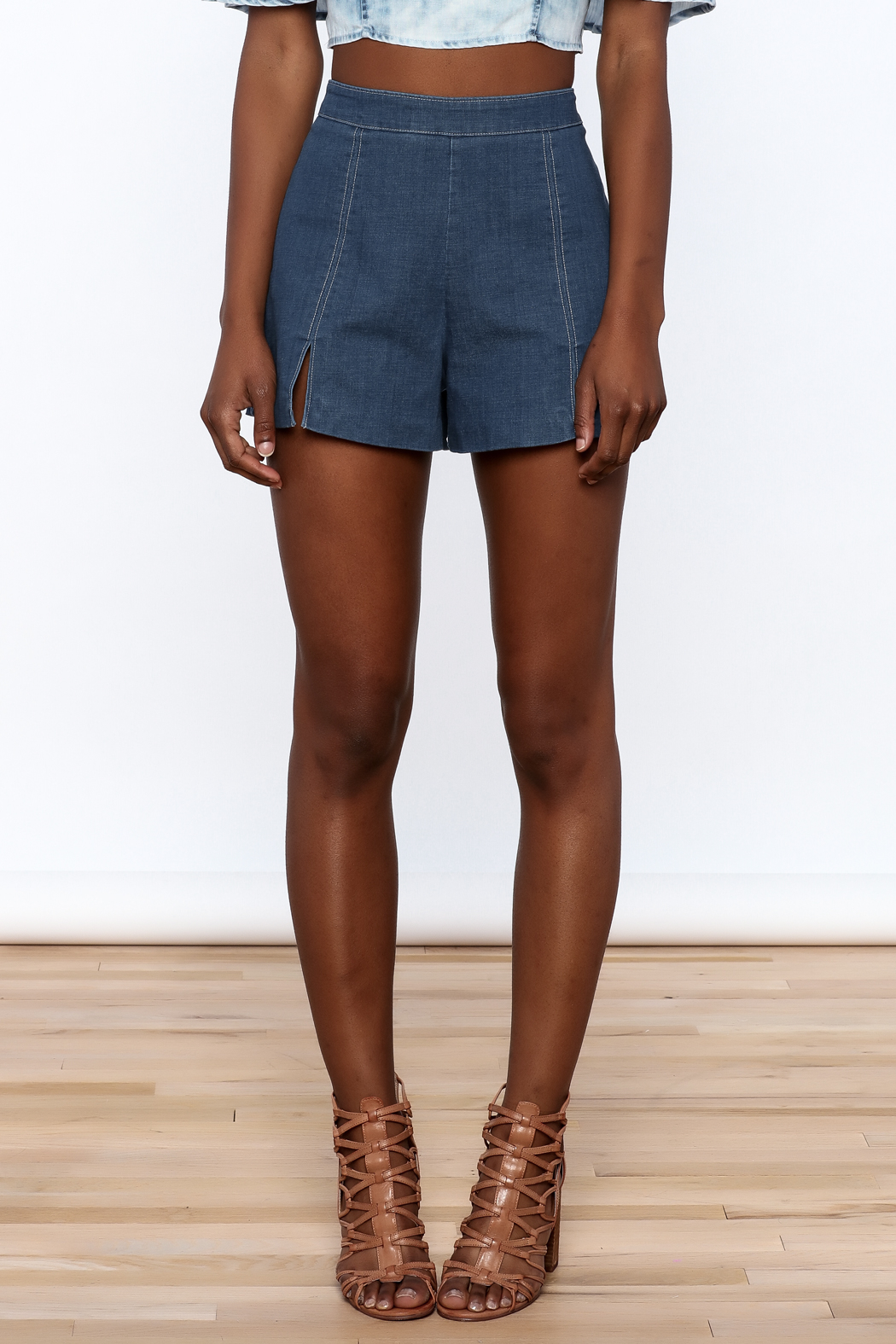 Do & Be High Waist Denim Shorts - Side Cropped Image