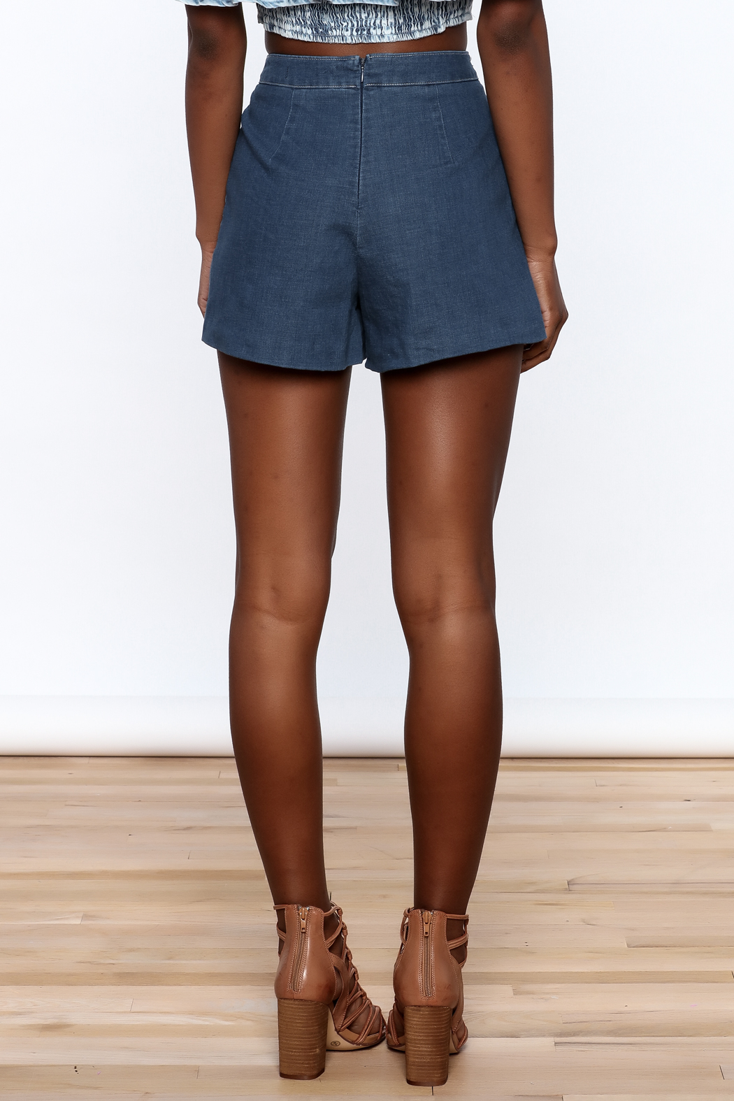 Do & Be High Waist Denim Shorts - Back Cropped Image