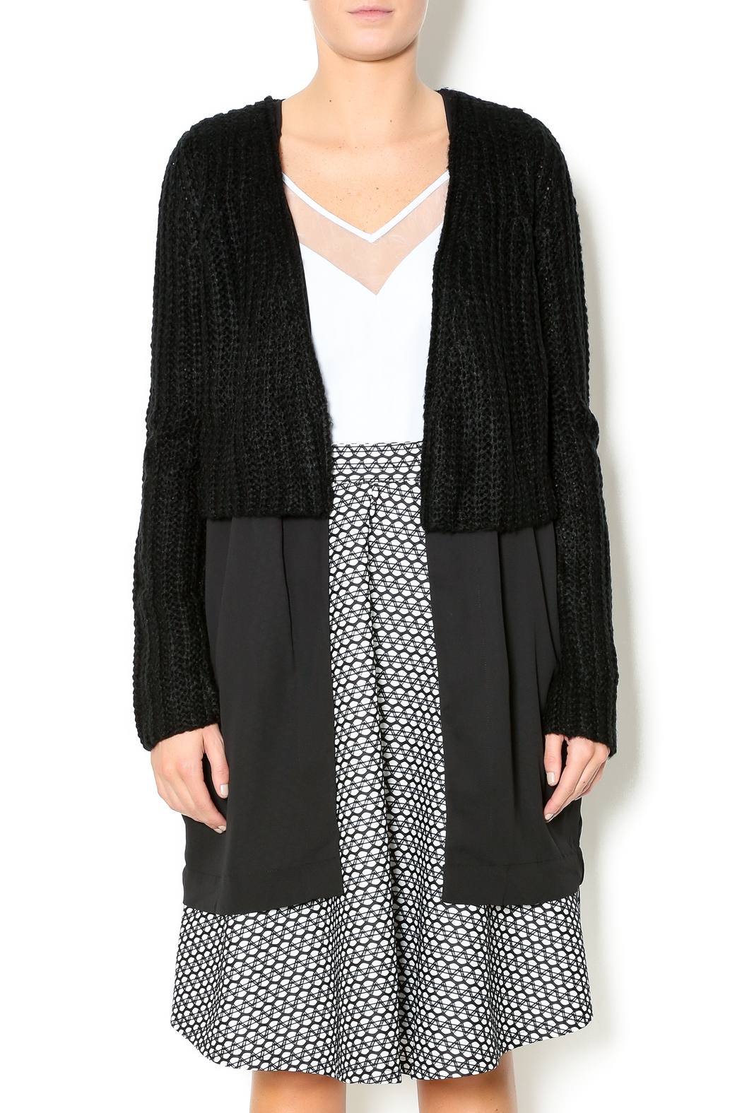 Do & Be Knit Chiffon Cardigan from Chicago by Bella Donna — Shoptiques