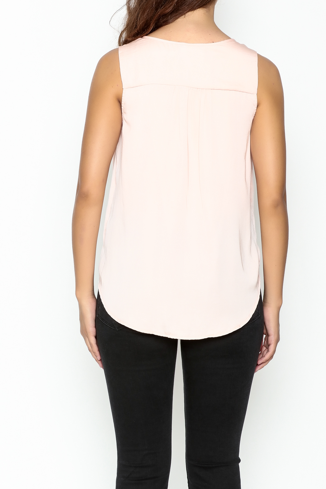 Do & Be Lace Inset Top - Back Cropped Image