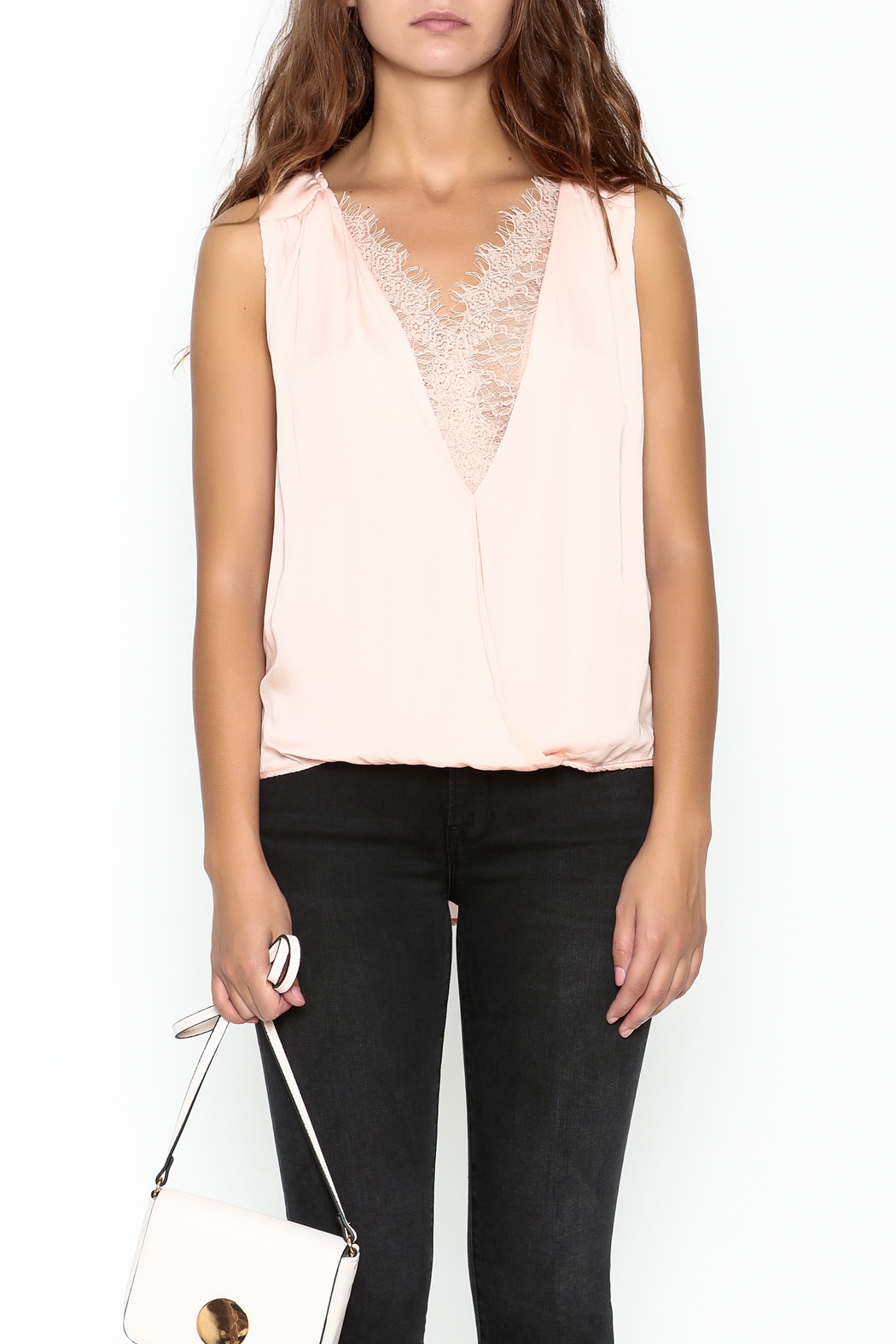 Do & Be Lace Inset Top - Front Full Image