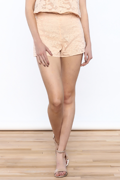Shoptiques Product: Peach Lace Short