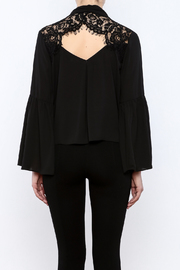 Do & Be Lace Shoulder Top - Back cropped