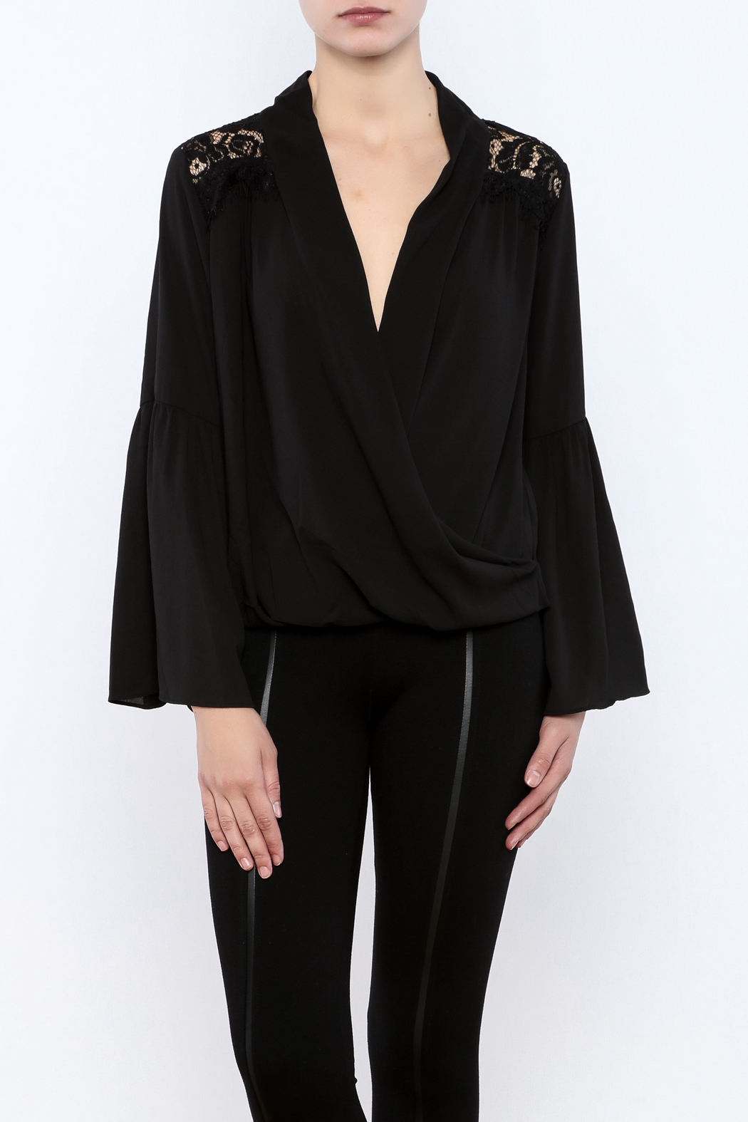 Do & Be Lace Shoulder Top - Main Image