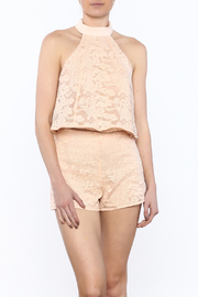 Do & Be Peach Lace Top - Product Mini Image