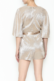Do & Be Metallic Short Sleeved Romper - Back cropped
