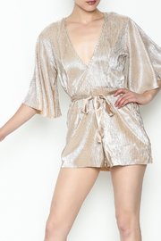 Do & Be Metallic Short Sleeved Romper - Front cropped