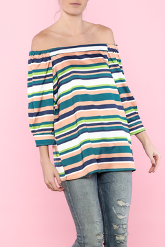 Shoptiques Product: Multi Color Off The Shoulder Top