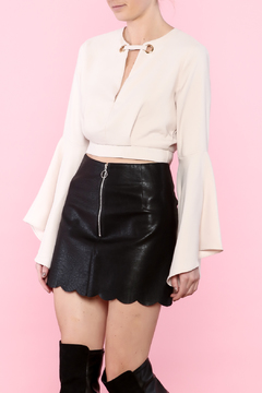 Shoptiques Product: Nude Bell Sleeve Crop
