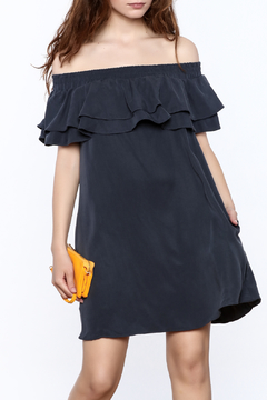 Shoptiques Product: Navy Off Shoulder Dress
