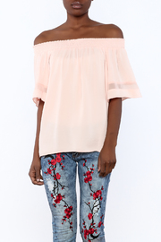 Shoptiques Product: Peach Off Shoulder Top