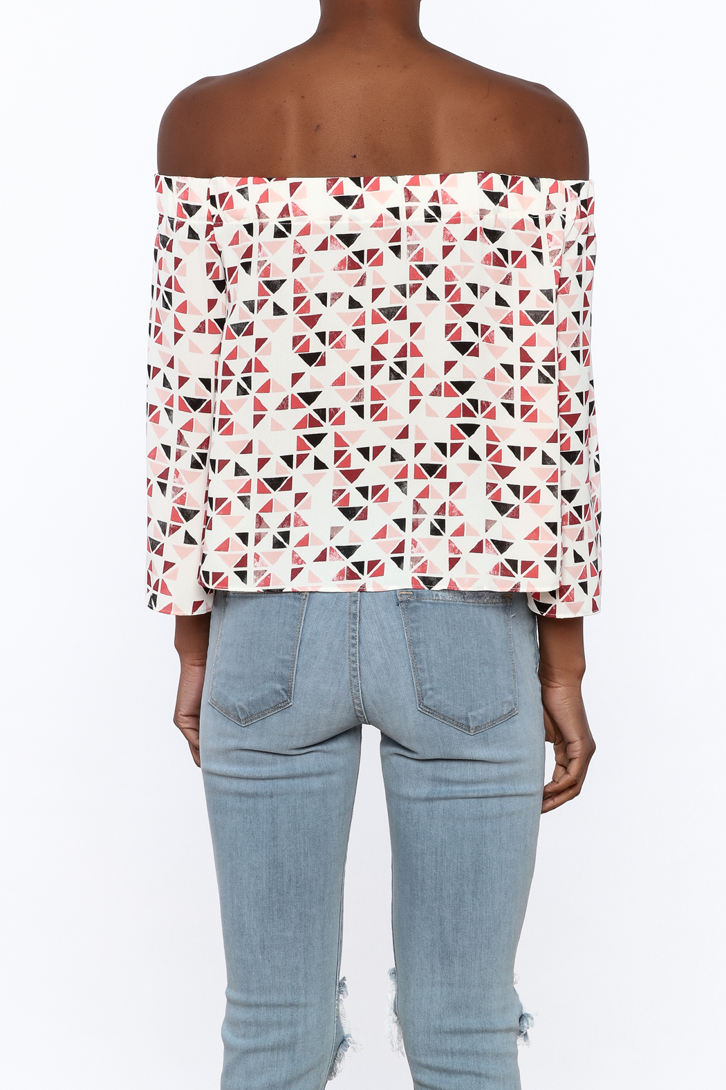 Do & Be Geo Printed Top - Back Cropped Image