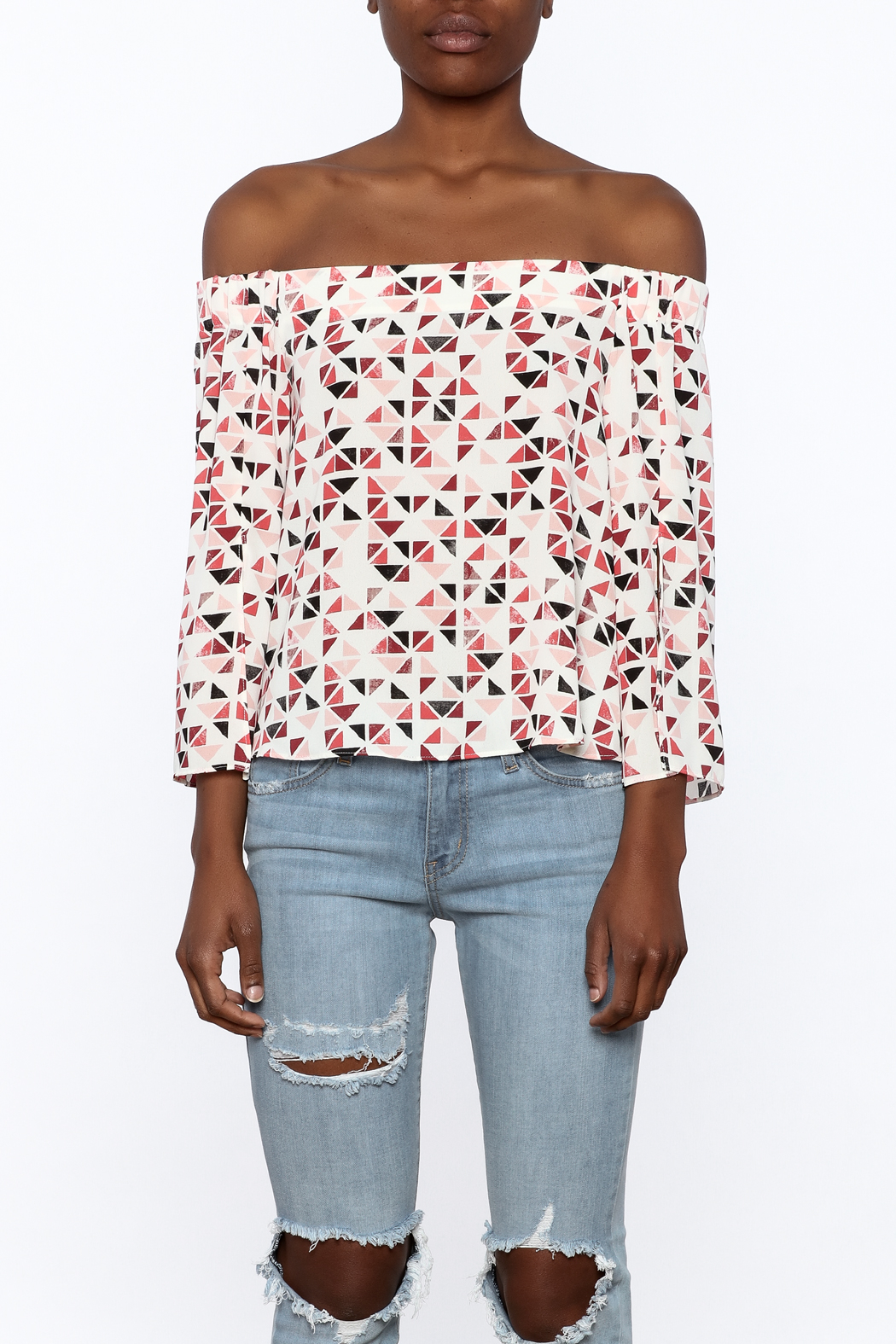 Do & Be Geo Printed Top - Side Cropped Image
