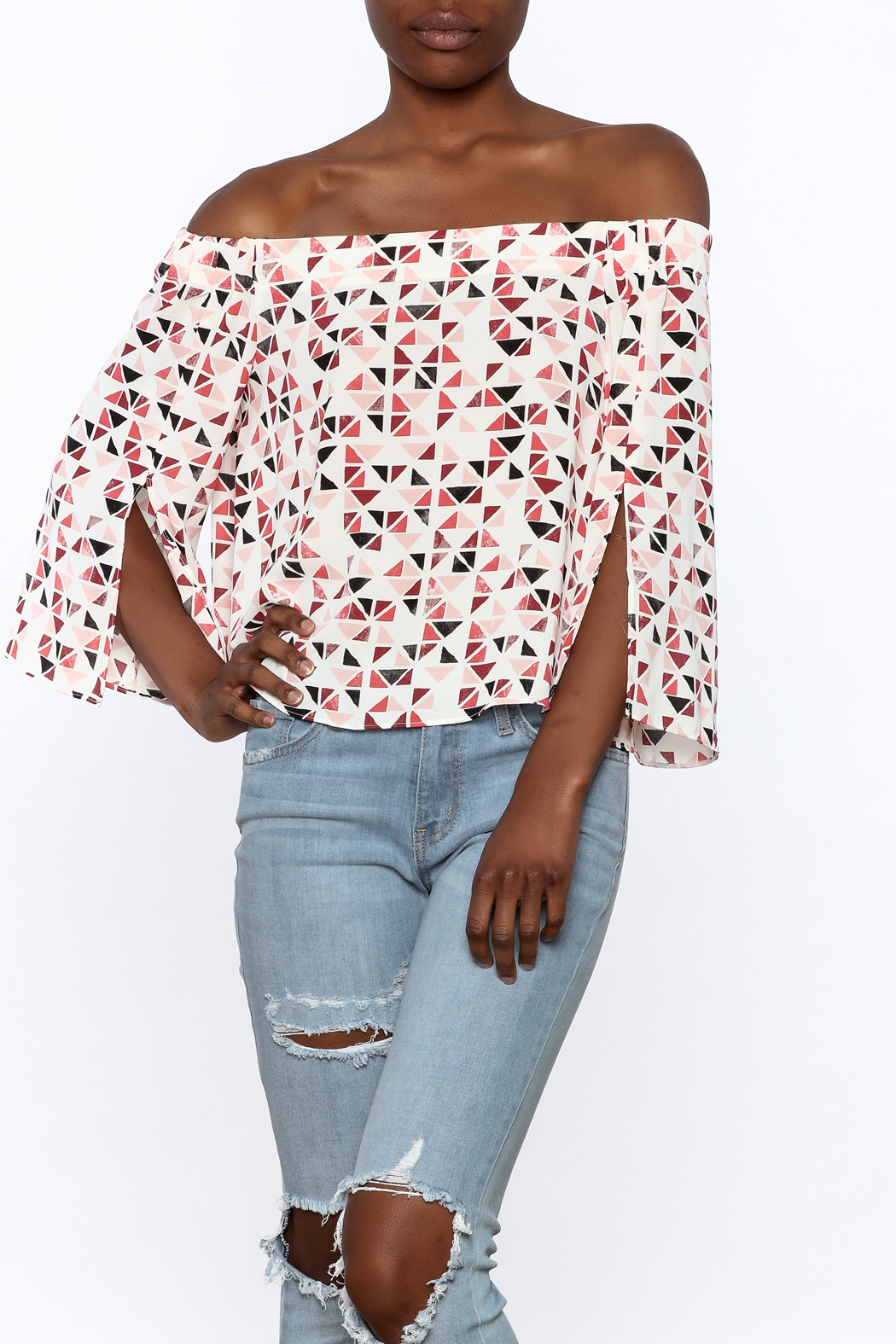 Do & Be Geo Printed Top - Front Cropped Image