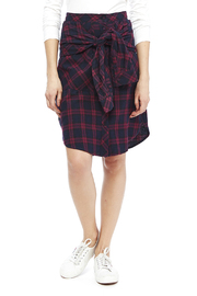 Do & Be Plaid Tie Skirt - Front cropped