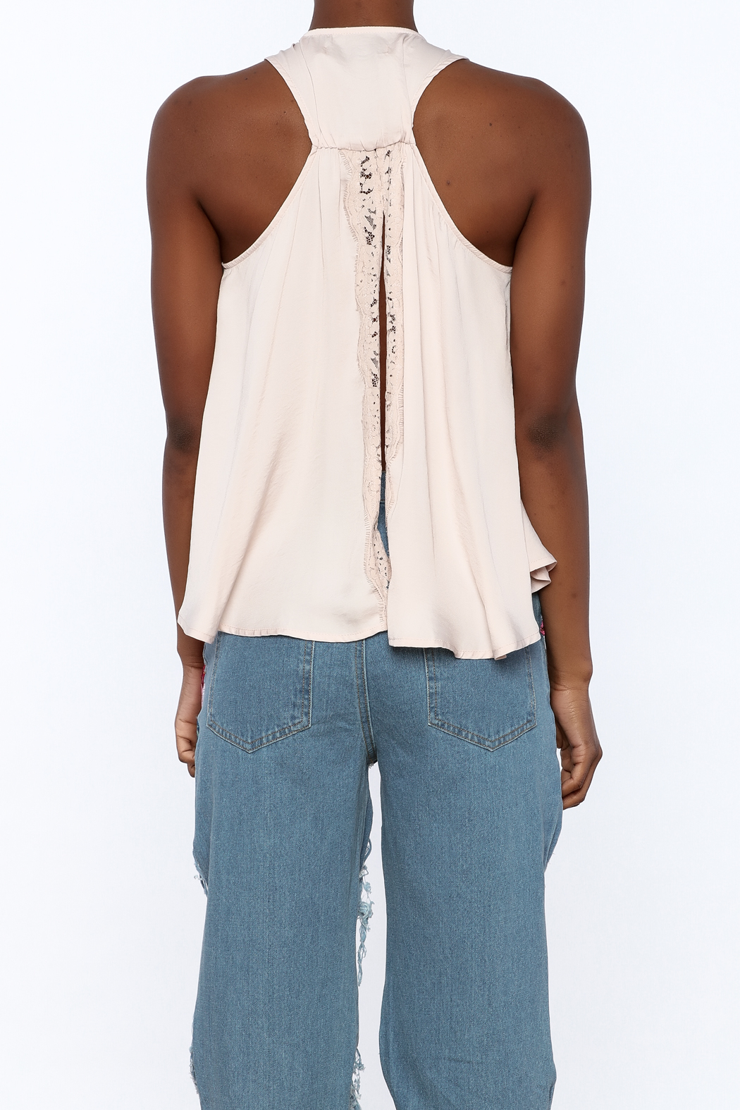 Do & Be Blush Racer Back Top - Back Cropped Image