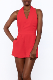 Do & Be Red Sleeveless Romper - Product Mini Image