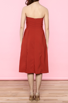 Shoptiques Product: Red Strapless Minimal Dress