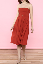 Do & Be Red Strapless Minimal Dress - Product Mini Image