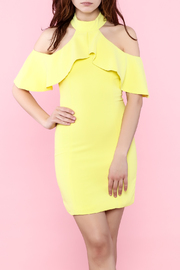 Shoptiques Product: Yellow Ruffle Dress