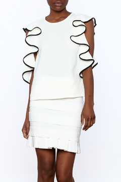 Do & Be White Ruffle Top - Product List Image