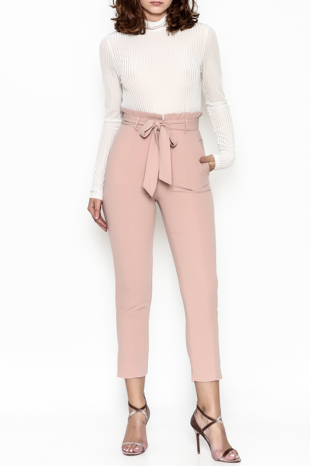 Do & Be Ruffle Waist Trouser - Side Cropped Image