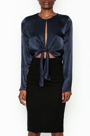 Do & Be Satin Tie Blouse - Front full body