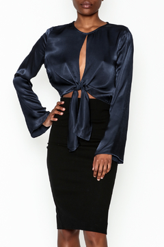 Do & Be Satin Tie Blouse - Product List Image