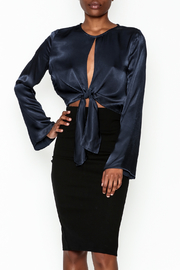 Do & Be Satin Tie Blouse - Front cropped