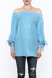 Do & Be Soft Blue Long Top - Side cropped