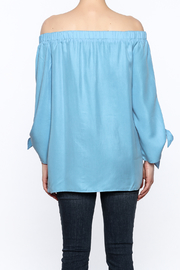 Do & Be Soft Blue Long Top - Back cropped