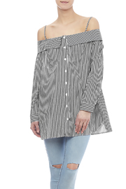 Do & Be Off Shoulder Stripe Tunic - Front cropped