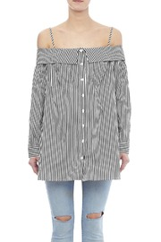 Do & Be Off Shoulder Stripe Tunic - Side cropped