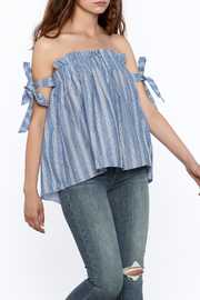 Do & Be Stripe Off Shoulder Top - Product Mini Image
