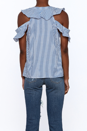 Do & Be Blue Stripe Body Top - Back cropped