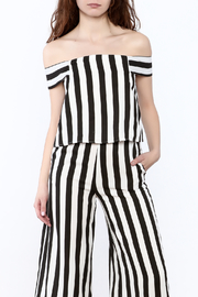 Do & Be Stripe Off-Shoulder Top - Product Mini Image