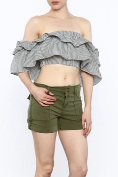 Shoptiques Product: Stripe Off The Shoulder Top