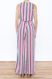Do & Be Stripe Wide Pant Set - Back cropped