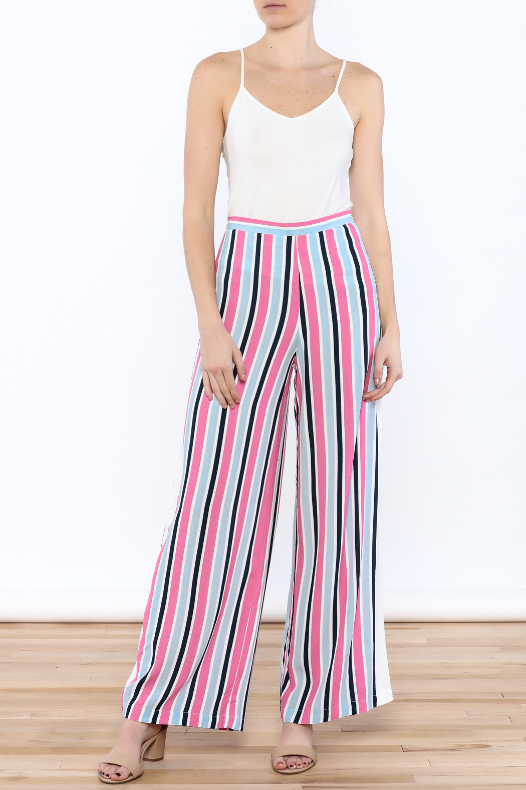 Do & Be Stripe Wide Pant Set - Side Cropped Image