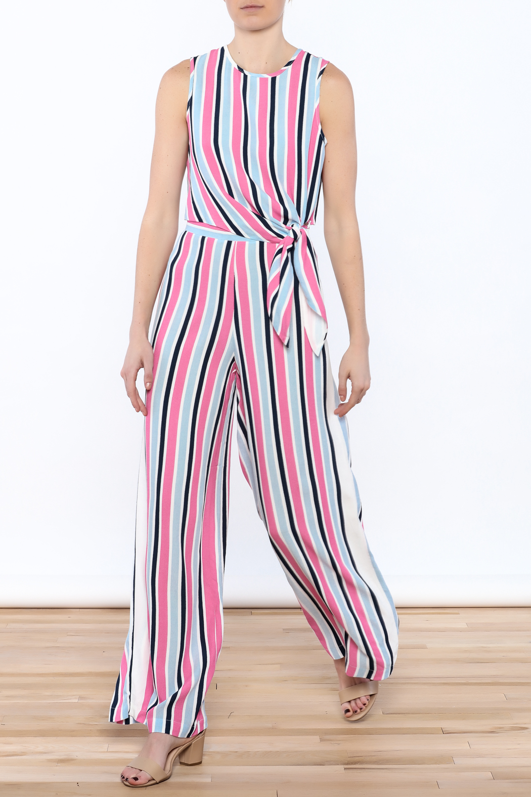 Do & Be Stripe Wide Pant Set - Main Image