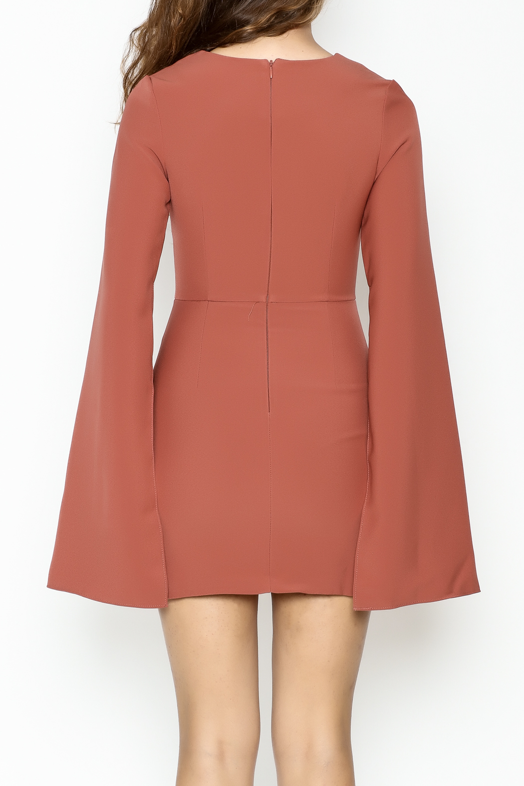 Do & Be Bell Sleeve Dress - Back Cropped Image