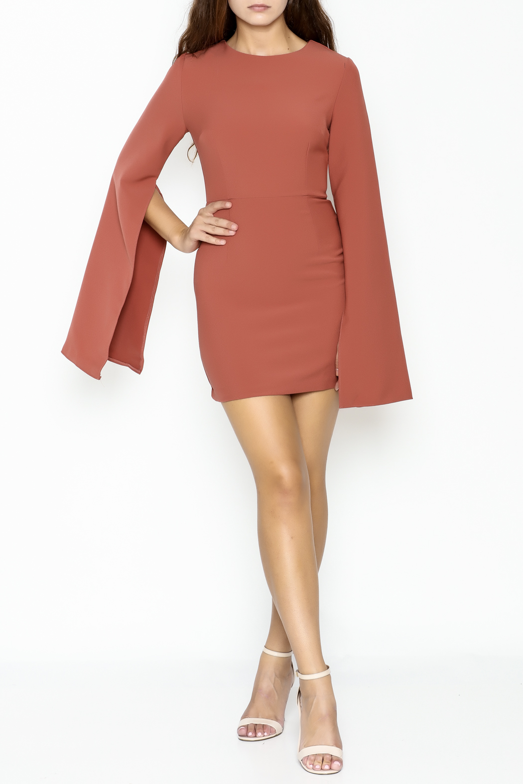 Do & Be Bell Sleeve Dress - Side Cropped Image