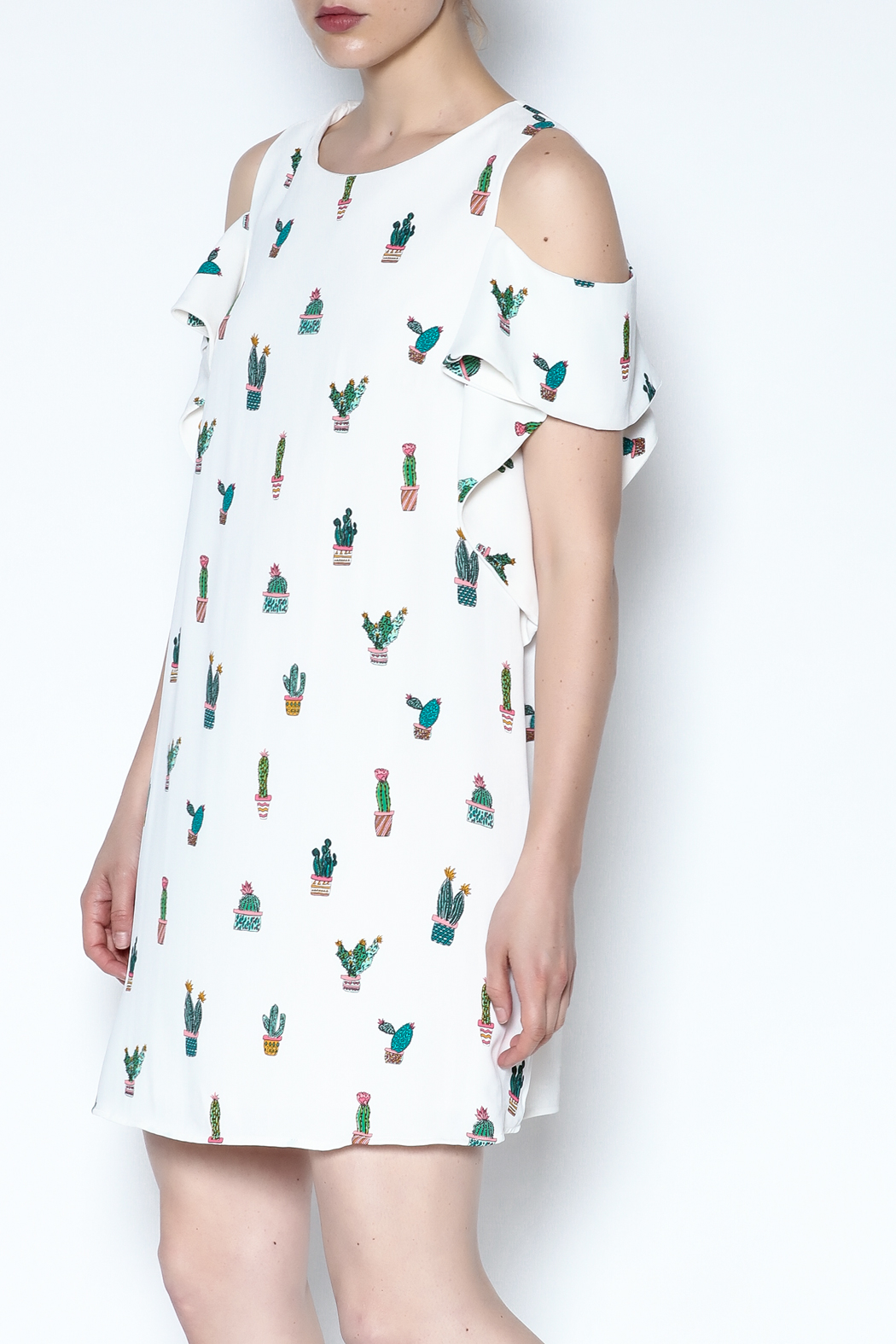 Do-Be Cold Shoulder Dress - Main Image