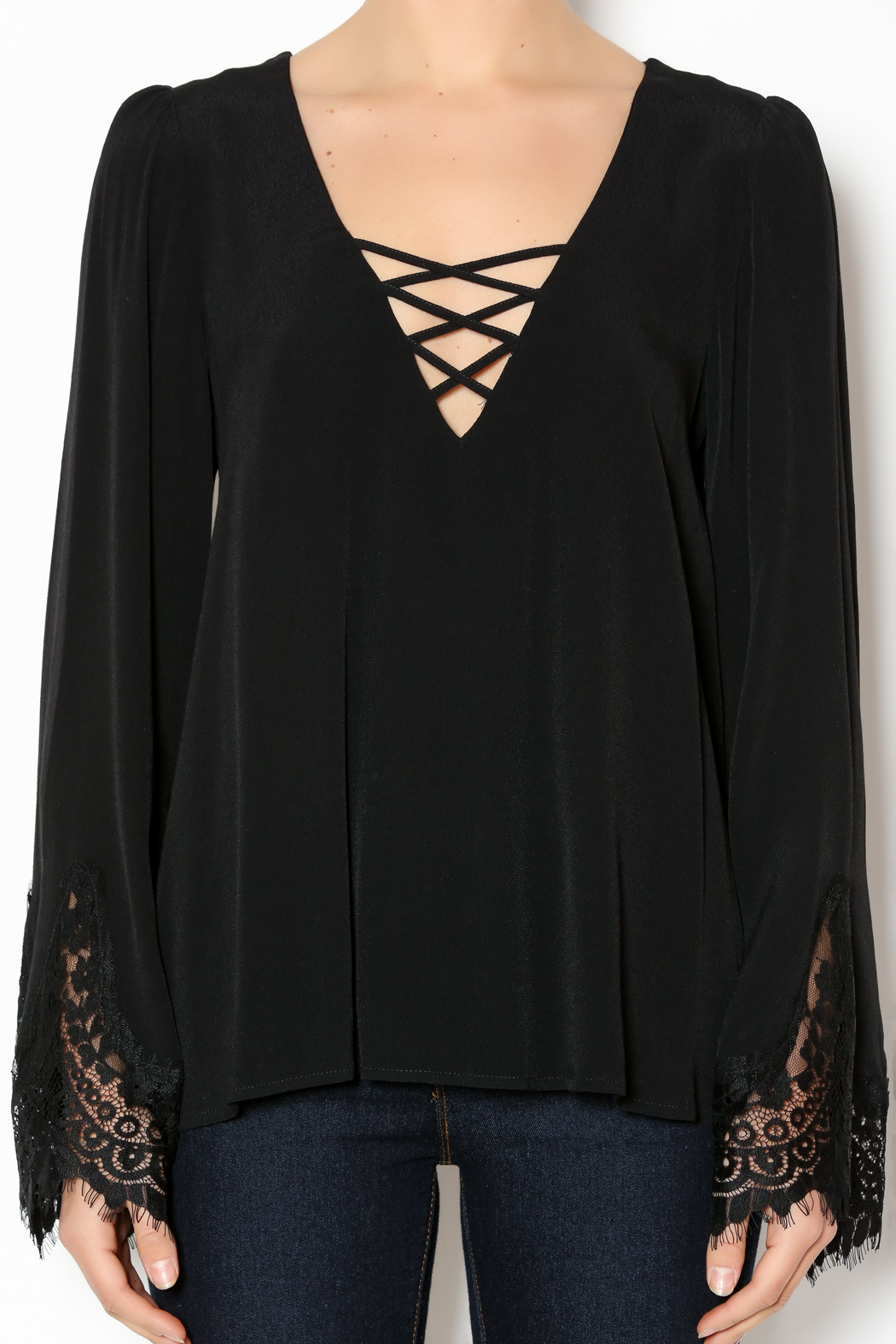Deep neck blouse online shopping