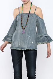 Shoptiques Product: Denim Off Shoulder Top